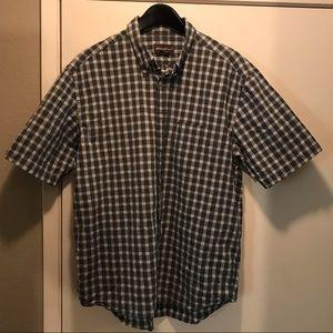 Eddie Bauer button down Large plaid shirt